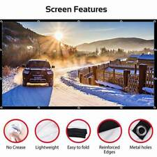 16:9 Hd Outdoor Home Cinema Theater Portable Foldable Projector Screen Us Stock