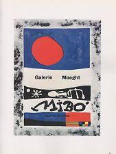 "1989 VINTAGE ""MIRO - OEUVRES RECENTES"" MOURLOT MINI POSTER COLOR Lithograph"