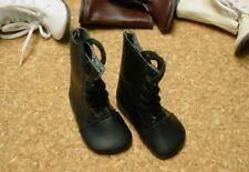 """DOLL Shoes, SLIM  58mm BLACK Boots fit 14"""" Kish, Flat Foot Cissy"""