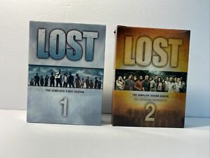 Lost Seasons 1 And 2 DVD Sets- with slipcovers and booklets FREE SHIPPING