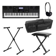 Super Casio WK-6600 76-Tasten Keyboard Ständer, Bank, Tasche, Kopfhörer Set