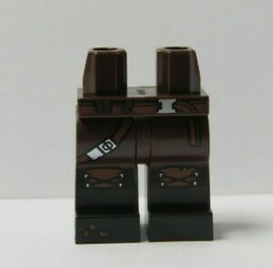 Lego 1 x Legs Leg For Minifigure Figure Black Brown Cowboy Western