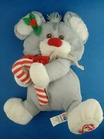 """Vintage 1980s Plush FISHER PRICE - PUFFALUMP CHRISTMAS MOUSE Approx 12"""" Toy"""