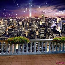 5X7FT City Night View Vinyl Photography Background Backdrop Studio Props ZZ04