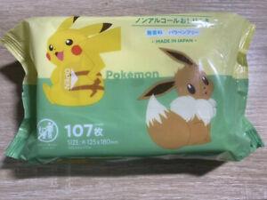 Pokemon Baby Wipe Warmer Water Wipes Pikachu Eievui No Fragrance 107 sheets JP
