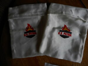 2 Fire resistant Document safe bag Fire 8.5''x11.8'' Fire Patrol pre owned