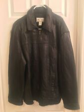 Merona Black Leather Jacket Men's Size Extra Large XL