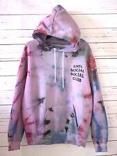 ANTI SOCIAL SOCIAL CLUB Size XL Tie Dye Pink Pullover Hoodie Sweatshirt
