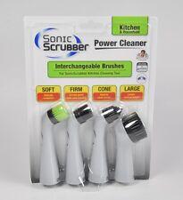 SONIC SCRUBBER POWER CLEANER BRUSH REFILLS KITCHEN & HOUSEHOLD BPK HPB-910X4