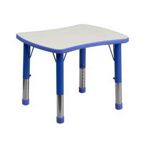 Flash Furniture  Activity Table - YU-YCY-098-RECT-TBL-BLUE-GG