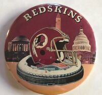 Washington Redskins PinBacks Button Pin  Collectible Sports Memorabilia