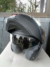 SHOEI Neotec Motorradklapphelm, Klapphelm, Sonnenvisier, Größe M 57/58 schwarz