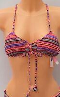 VICTORIA'S SECRET VS Swim Multi-Colour Lace Up Bikini Top Size XS BNWT