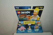 BOITE LEGO DIMENSION THE SIMPSONS HOMER  CAR  ET TAUNT O VISION  NEUF 71202