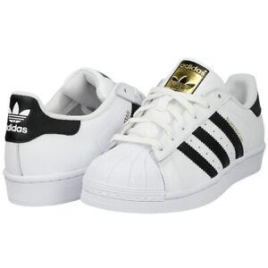 Adidas Originals Superstar J Shoes Kids Sneakers White Black NEW