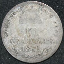 More details for 1869 g.y.f. | hungary 10 krajczar | silver | coins | km coins