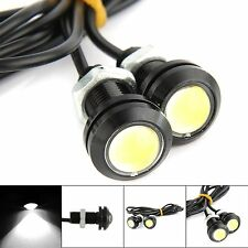 2x White DC 12V 15W Eagle Eye LED Daytime Running DRL Backup Light Car Auto Lamp