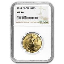 1994 1/2 oz Gold American Eagle MS-70 NGC (Registry Set) - SKU #98370