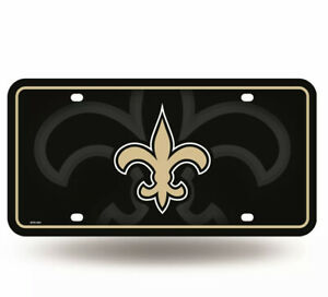 New Orleans Saints Logo Metal License Plate NEW Free Ship 6x12 Inches
