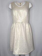 Charming Charlie Small Cream Ivory Gold Brocade Dress