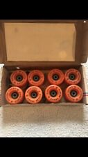 VINTAGE ROLLER SKATE WHEELS Orange New In Box Urethane 93A With Bearings