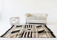 Area Rug Black Grey Wool Living Room Rug Sheep Wool Throw Carpet Rug Handmade