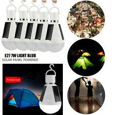 5pcs E27 7W Solar Powered LED Bulbs Light Outdoor Emergency Camping Hiking Lamp