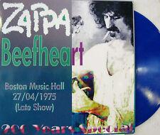 "ZAPPA BEEFHEART ""BOSTON MUSIC HALL""  lp limited blue vinyl mint"