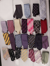 Mens Blue Pink Yellow Green Purple Brown Red Marks & Spencer & NEXT Ties x 25