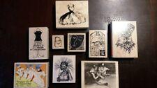 9 Piece Unique Fashion Art Rubber Stamp Collection