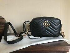 Gucci Mini GG Marmont Black Camera Bag~