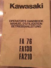 KAWASAKI FA 76 130 210 ENGINES OPERATOR'S HANDBOOK OWNERS MANUAL ORIGINAL German