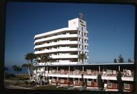 1962 kodachrome photo slide Three Crowns Hotel  Sarasota Fl  #3  FL21