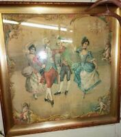 Video Link‼️ True Antique Silk French Victorian Oil Painting Beautifully Framed