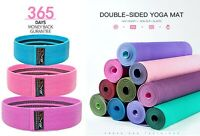 EVO YOGA SET OF 3 Resistance Bands TPE Exercise MAT Multi Layer Laser Printed