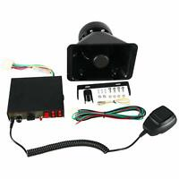 100W 8 Sound Emergency Loud Speaker Car Warning Alarm Police Siren Amplifier NEW