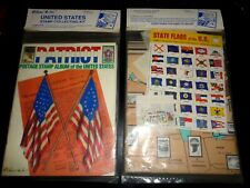 New Vintage Late '80's H.E. Harris Patriot US Stamp Album & Kit: Stamps, Hinges