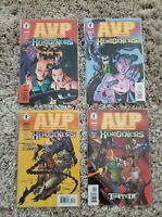 Aliens vs Predator Xenogenesis Comic set 1-2-3-4 Lot Dark Horse AvP Mel Rubi art