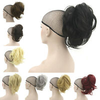 Claw Thick Wavy Curly Synthetic Short Layered Ponytail Clip In On Hair Extension