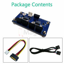 9pin USB Header Male 1 to 4 Female Extension Cable Card Motherboard
