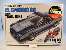 1986 CHEVROLET EL CAMINO SS WITH TRAIL BIKE MPC 1:25 SCALE PLASTIC MODEL CAR KIT