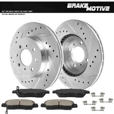 Front Brake Rotors & Ceramic Pads For 2009 2010 2011 2012 2013 2014 Honda Fit