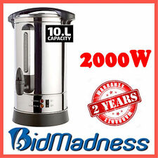 NEW STAINLESS STEEL 10 LITRE 2000W HOT WATER BOILER URN URNIE  2YR WNTY