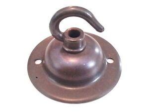 Solid Brass Ceiling Rose Hook Plate Hanging Suspension Fixing Plate 5 finishes