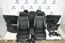 BMW 3 Series E90 Saloon 05-12 M Sport Black Leather Interior Seats & Door Cards