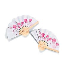 12 Cherry Blossom Pink Flower Petal FANS Luau Wedding Beach PARTY FAVORS