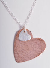 Sterling Silver Love Hearts Chain Fine Necklaces & Pendants without Stones
