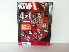 Star Wars 4 In 1 Games Brand New Dominoes, Battle Matching, Bingo, Starship Race