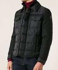 NEW Moncler Blais Men's Down Jacket 5 US XL Slim Fit Black Mixed Media