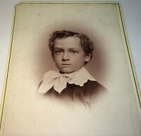 Rare Antique Victorian American MidWestern Boy, South Dakota Cabinet Photo! US!